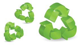 Three-Dimensional Recycling Symbols Stock Photo