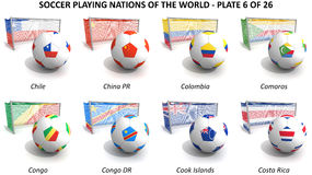 Soccer playing nations of the world Royalty Free Stock Photo