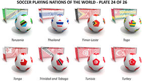 Soccer playing nations of the world Royalty Free Stock Image