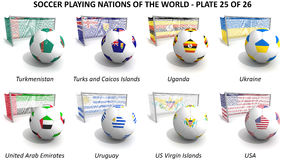 Soccer playing nations of the world royalty free illustration