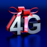 Letters 4G in metal to offer as gift. Three dimensional rendered illustration of unique model Royalty Free Illustration