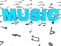 Three Dimensional Rendered Word Of Music Royalty Free Stock Images