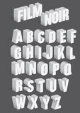 Three Dimensional Retro Vector Alphabet Royalty Free Stock Photos