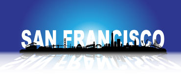 Three-dimensional San Francisco Skyline Royalty Free Stock Image