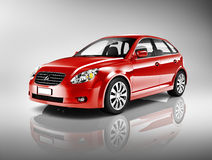 Three-Dimensional Shape Red Sedan Car Royalty Free Stock Photography
