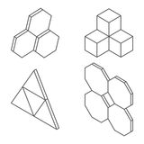 Three-dimensional shapes and forms. Royalty Free Stock Photos