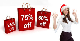 Three dimensional shopping bags stock photography