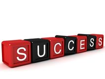 Three dimensional success text on building blocks Stock Photography