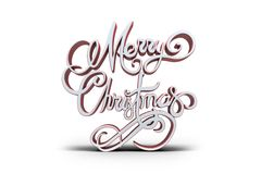 Three dimensional text of Merry Christmas Royalty Free Stock Image