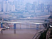Three-dimensional traffic. 2012, the three-dimensional traffic in Chongqing, China Stock Photography