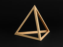 three dimensional triangle on black stock photo