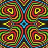 Three-dimensional volumetric seamless pattern. Royalty Free Stock Photo