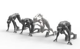 Three dimensional white human run Stock Image