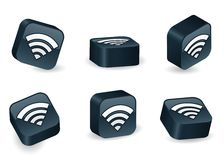 Three-Dimensional WiFi Blocks Stock Images