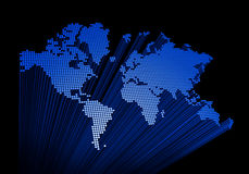 Three dimensional world map Stock Images
