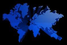 Three dimensional world map Royalty Free Stock Photo
