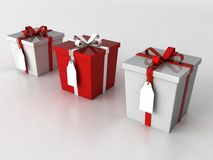 Three dimensional wrapped gift boxes Stock Photography