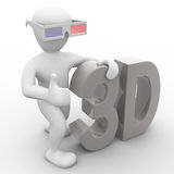 Three dimensions Stock Images