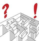 Three-dimentional labyringh Stockbild