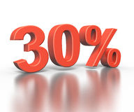 Three dimentional rendering of thirty percent Stock Image