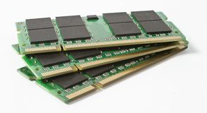 Three so-dimm module for use in notebooks Royalty Free Stock Photos