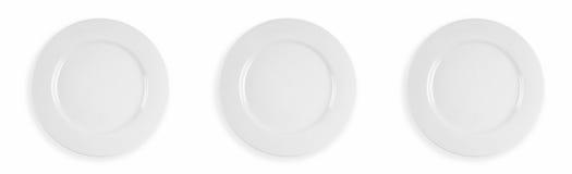 Three dinner plates Stock Photo