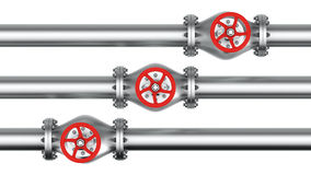 Three direct pipes Royalty Free Stock Photos