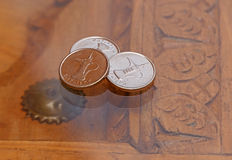 Three dirham coins Royalty Free Stock Images