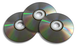 Three Discs Royalty Free Stock Image