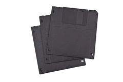 Three diskettes Royalty Free Stock Photos
