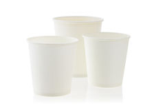 Free Three Disposable Paper Cups Stock Images - 8132204