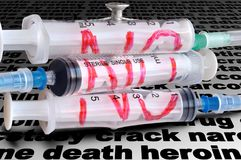 Three disposable syringe Royalty Free Stock Photos