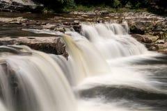 Three distinct waterfalls at High Falls of Cheat Royalty Free Stock Image