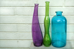 Three Distorted Bottles Royalty Free Stock Photos
