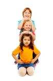 Line of kids Royalty Free Stock Images