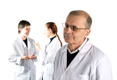 Three doctors. Stock Photo