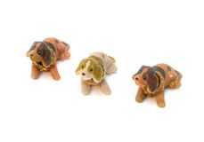 Three Dog Plush toy for children Royalty Free Stock Images