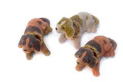 Three Dog Plush toy for children Royalty Free Stock Photos