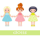 Three dolls Royalty Free Stock Images