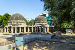 Three domed building in Hauz Khas Royalty Free Stock Images