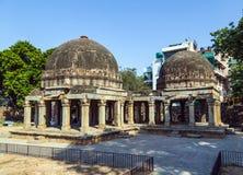 Three domed building in Hauz Khas Royalty Free Stock Photos