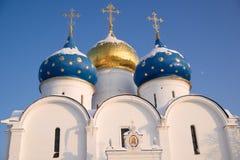 Three domes church Stock Photo