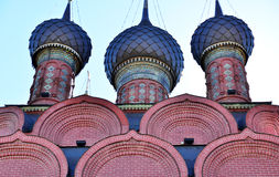 Three domes in Russian Church Royalty Free Stock Photo
