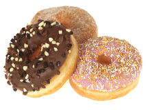 Three Donuts Stock Images