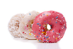 Three Donuts Stock Photo