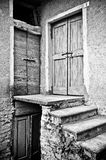 Three doors royalty free stock images
