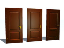 Three Doors. (see more in my portfolio Royalty Free Stock Photo