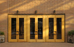 Three doors. Building entrance Royalty Free Stock Photos