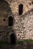 Three doors in defense wall ruin royalty free stock photos
