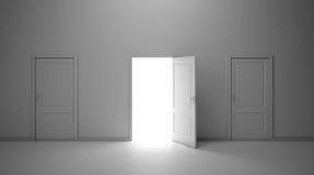 Three doors interior Royalty Free Stock Images